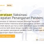 Pemerataan Vaksinasi Percepatan Penanganan Pandemi