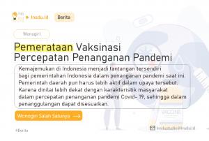 Pemerataan Vaksinasi Percepatan Penanganan Pandemi, oeh Arifuddin Fathoni